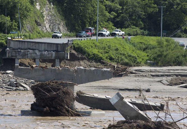 Las lluvias han afectado diversos tramos carreteros en la zona. (Agencias)