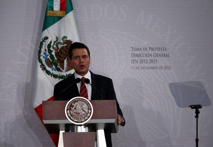 El Presidente Enrique Peña Nieto destacó el lanzamiento del Satélite Bicentenario este miércoles. (Agencia Reforma)
