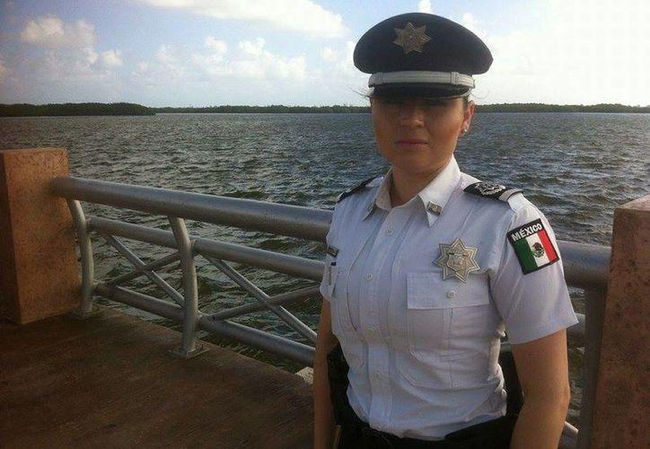 Edith Aracelly Navarro Rodríguez, nueva coordinadora de la Policía Federal. (Sergio Orozco/SIPSE)