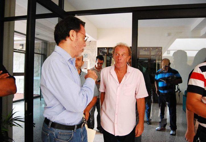 El secretario general del Colegio de Académicos de la Uqroo, Inocente Bojorquez, insistió en que las acusaciones contra los docentes presentaban irregularidades. (Benjamín Pat/SIPSE)