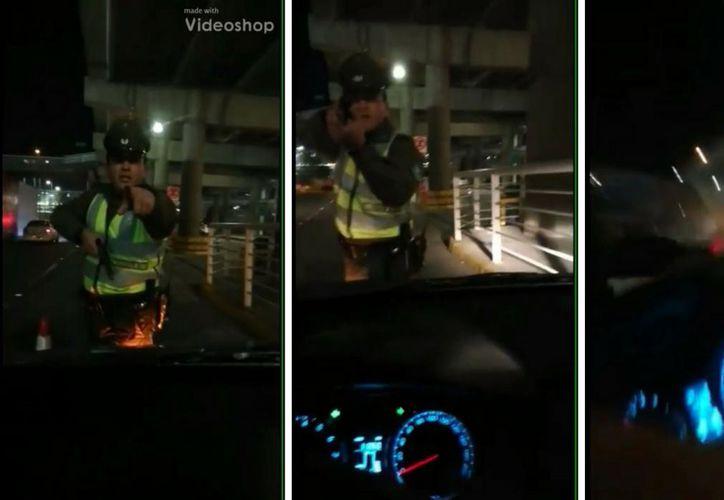El video causó asombro en Chile, por la crudeza que mostró el policía. (Redacción/SIPSE)