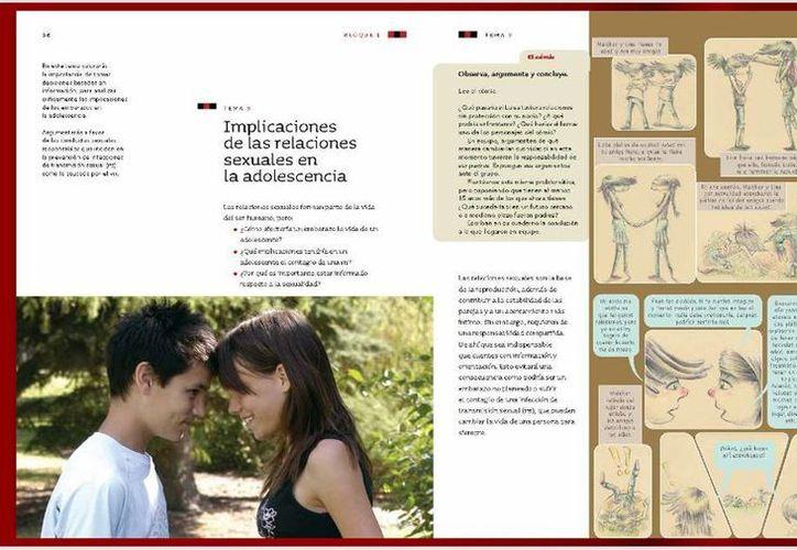 Captura de pantalla del libro de Ciencias Naturales de sexto grado de primaria, en el cual se habla de las implicaciones de las relaciones sexuales entre adolescentes. (libros.conaliteg.gob.mx)