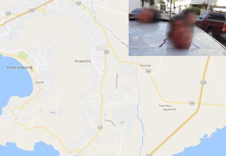 La policía federal, estatal y municipal, al igual que el Ejército llegaron al lugar donde se encontraba el automóvil. (/twitter.com/SociedadPC)
