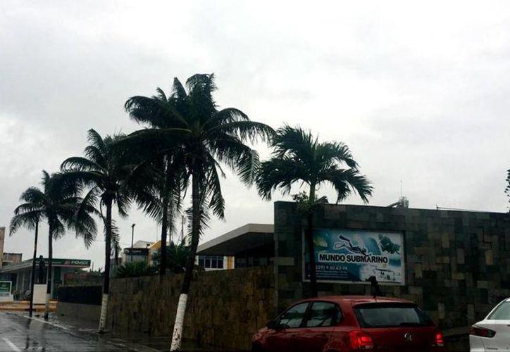 En Veracruz se registan intensas lluvias y vientos debido a la presencia de la tormenta 'Earl'. (mediotiempo.com)