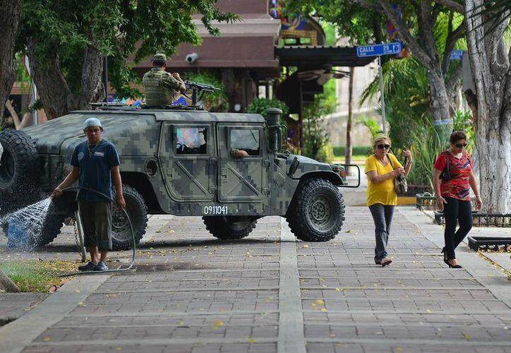 El Estado Mayor Presidencial, el Ejército y demás fuerzas federales están a cargo de la seguridad de los visitantes. (SIPSE)