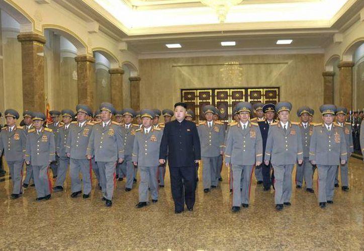 La sociedad norcoreana no ve con malos ojos la retórica encendida del presidente, Kim Jong-un. (EFE)