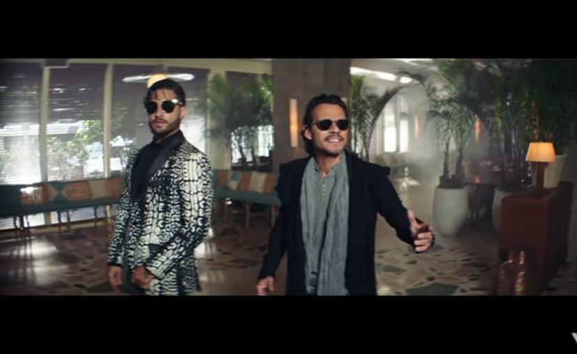 """Maluma y Marc Anthony unieron su talento y al ritmo de la salsa estrenaron el video oficial """"Felices los 4"""". (Captura YouTube)."""