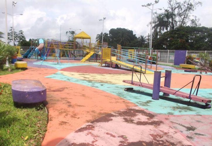 Hasta el momento se desconoce cuánto será el presupuesto del trabajo de mantenimiento del parque integral. (Jesús Caamal/SIPSE)