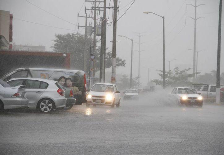 Las lluvias se registraron del 16 al 18 de este mes. (Tomás Álvarez/SIPSE)
