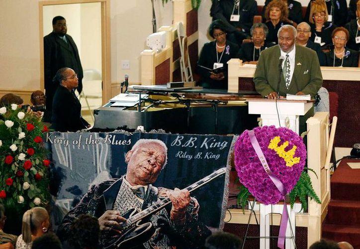 Aspecto del funeral de la Leyenda del Blues, BB King, quien falleció hace 15 días. Las exequias fueron en el templo de la inglesia Bell Grove Missionary. (AP)