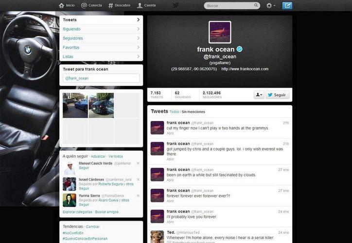 'Fui atacado por (Brown) y varios tipos más', escribió Ocean en Twitter. (@frank_ocean)