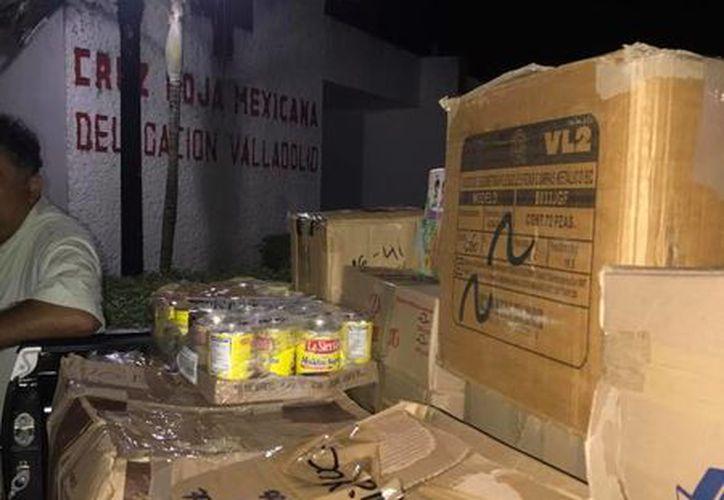 La Cruz Roja delegación Valladolid entregó todo lo recolectado a la delegación estatal. (Facebook)