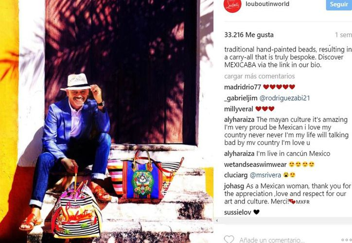 El reconocido diseñador Christian Louboutin y su nueva colección Mexicaba, inspirada en la cultura maya. (Imágenes de Instagram/ louboutinworld)