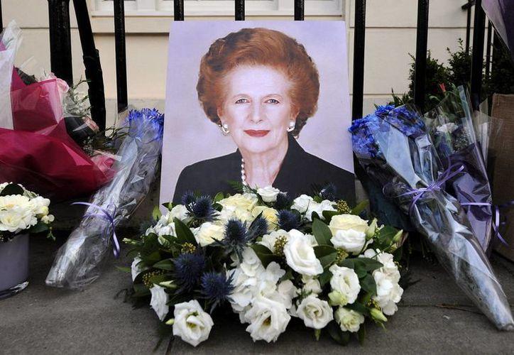 Conocida como la Dama de Hierro, Thatcher murió a los 87 años. (EFE)