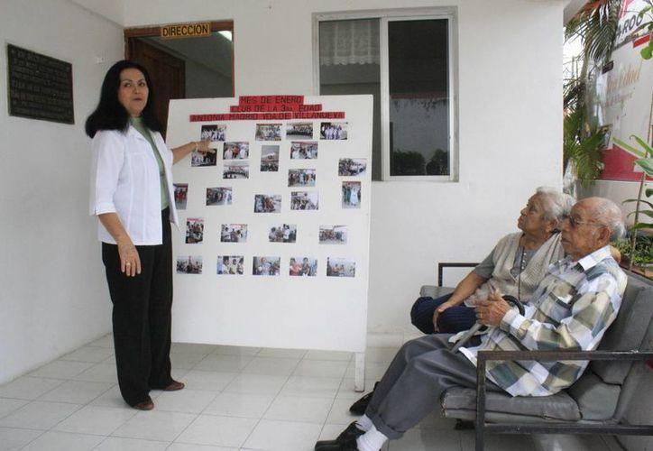 Imparten talleres dirigidos a las personas de la tercera edad. (Harold Alcocer/SIPSE)