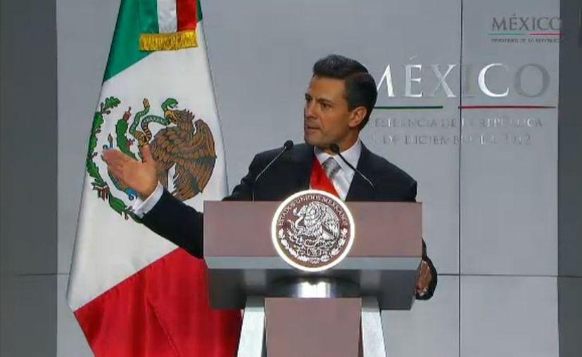 Enrique Peña Nieto en su primer discurso a la Nación. (presidencia.gob.mx)