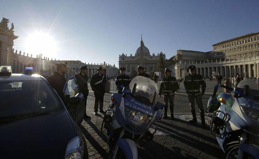 La policía italiana no ha localizado elementos de riesgo en la Ciudad del Vaticano. (AP)