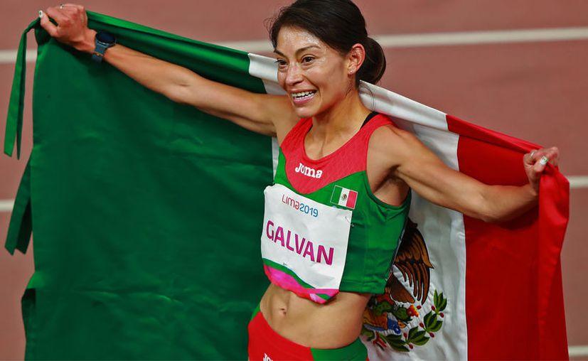Con un espectacular cierre, Laura Galván se llevó el oro en los 5 mil metros en Lima 2019. (Foto: Notimex)