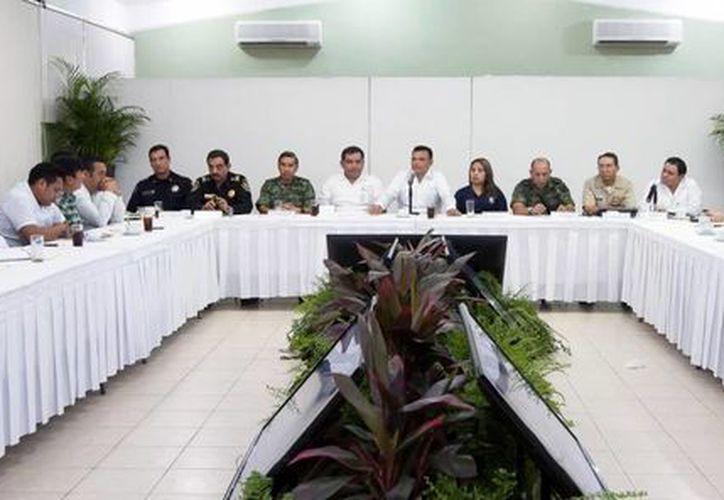El Gobernador encabezó ayer la tercera reunión del Grupo de Coordinación Local. (Milenio Novedades)