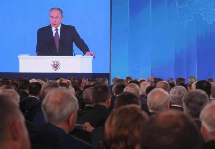 Vladimir Putin anunció una nueva generación de armamento. (Reuters)