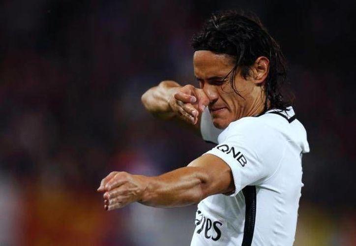 En solo 45 minutos Cavani despedazó al Caen con 4 goles para el 6-0 a favor del PSG en Francia. (Foto tomada del elmundo.es)