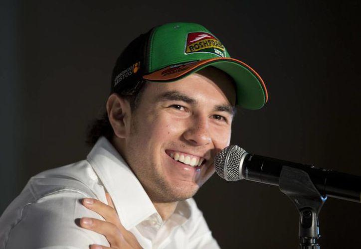 Sergio Pérez espera obtener una buena posición en el Gran Premio de Bélgica, que se correrá el 24 de agosto. (AP)