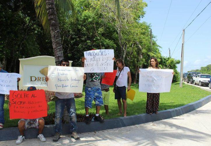 Al dañar a los propietarios, dañan Tulum. (Sara Cauich/ SIPSE)