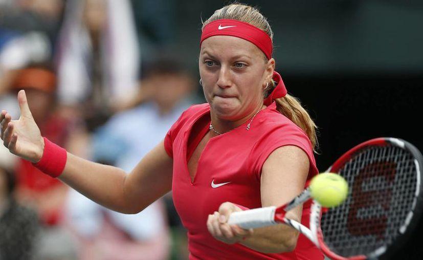 Kvitova ganó por parciales de 6-2, 0-6 y 6-3. (Agencias)