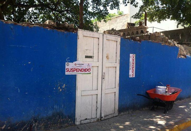 Ayer, gracias a una denuncia anónima, fue clausurada una construcción por no contar con los permisos necesarios.  (Octavio Martínez/SIPSE)