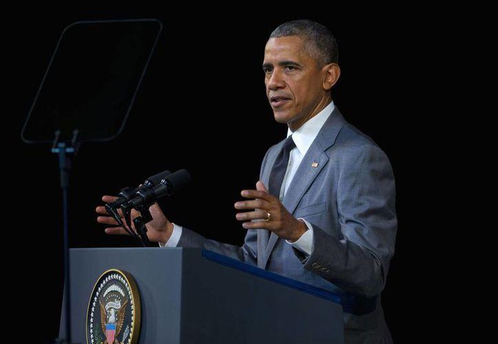 El presidente Barack Obama habló esta mañana en El Gran Teatro de la Habana, en Cuba, en donde aseguró que hará todo 'lo necesario' para ayudar a encontrar a los culpables del atentado en Bruselas. (Foto AP / Pablo Martinez Monsivais)