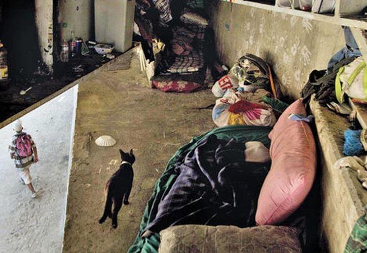 Eduardo y Silvestre, su gato negro. (Jesús Quintanar/Milenio)