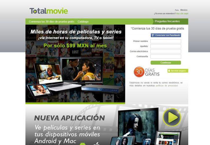 Total Movie ofrecerá a partir del primer trimestre de 2013 el servicio de televisión en vivo por internet (signup.totalmovie.com)