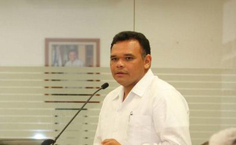 El gobernador Rolando Zapata Bello en la instalación del Consejo de Pesca y Acuacultura. (SIPSE)