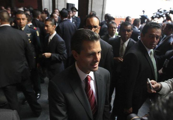 Peña Nieto refrendó el compromiso del gobierno de la República de trabajar junto con las autoridades estatales y los poderes judiciales. (Notimex)
