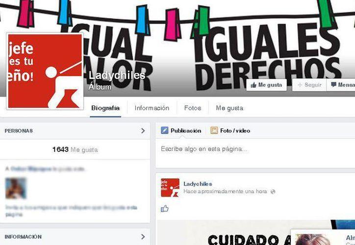Hasta el momento la página tiene más de mil 600 seguidores. (Facebook/ladychiles)