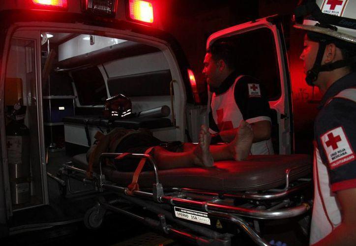 La lesionada fue trasladada al Hospital General. (Redacción)