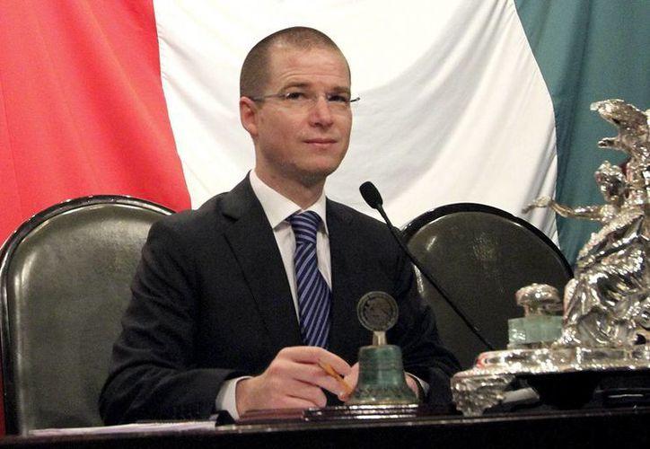 El presidente del Congreso General, Ricardo Anaya, confirmó que el Congreso no recibió ninguna iniciativa preferente por parte del presidente Peña Nieto. (Archivo Notimex)