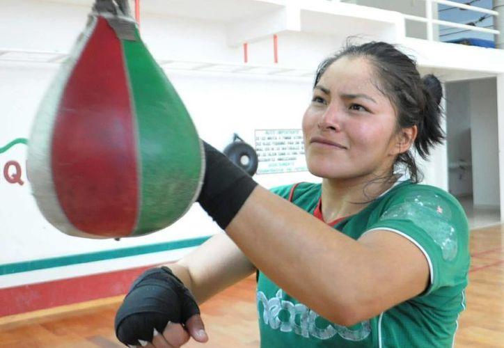 Este sábado, en el Palenque de Metepec, Estado de México, la pugilista mexicana Ibeth 'Roca' Zamora expondrá la corona de peso minimosca del Consejo Mundial de Boxeo. (Imagen tomada de boxaldia.com)