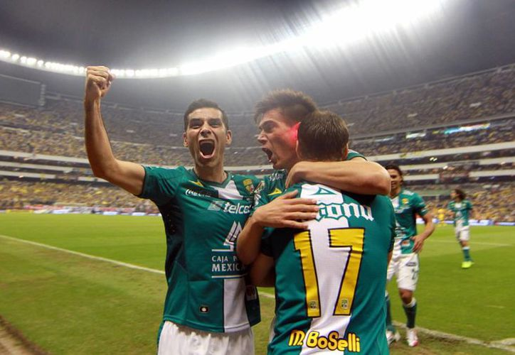 Jugadores del León celebrando. (Notimex)