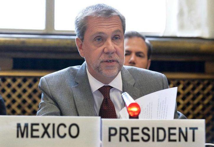 Jorge Lomónaco, representante de México ante organismos internacionales, envió una carta al  Consejo de Derechos Humanos, para 'protestar' por las declaraciones del Relator Especial de ONU, Juan Méndez, sobre la tortura en Méxicoi. (NTX/Archivo)