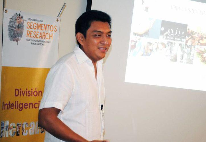José Cab Lugo de Segmentos Research detalló algunas características de las empresas locales como resultado de un estudio de mercado que se realizó en la zona. (Milenio Novedades)