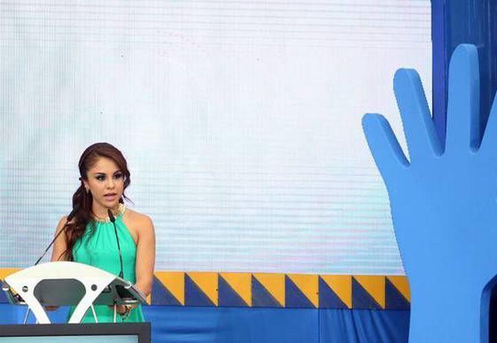 La mexicana Paola Longoria fue confirmada como relevista de la Antorcha Panamericana 2015. (Notimex)