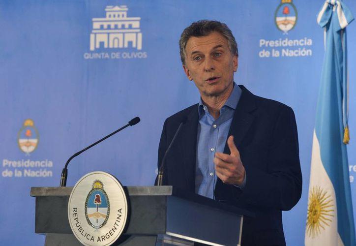 El presidente Mauricio Macri ha sido envuelto en la investigación que se lleva en contra de la  vicepresidenta Gabriela Michetti, quien no ha podido aclarar el origen de 66 mil dólares. (Archivo/ Notimex)