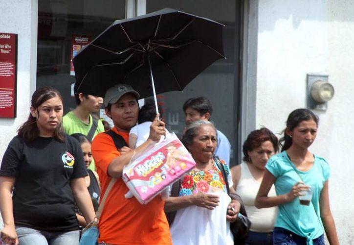 Para este jueves, en Mérida se espera una temperatura máxima de 39 grados y una mínima de 22. (SIPSE)