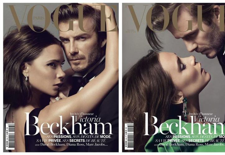 La historia de amor de Victoria y David Beckham fue inmortalizada también en las dos portadas que Vogue lanzó para la ocasión. (EFE/Archivo)