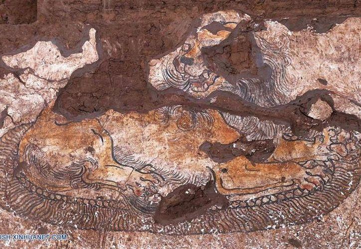 Desentierran mural más antiguo de Dinastía Tang en noroeste de China . (Foto: Xinhua)