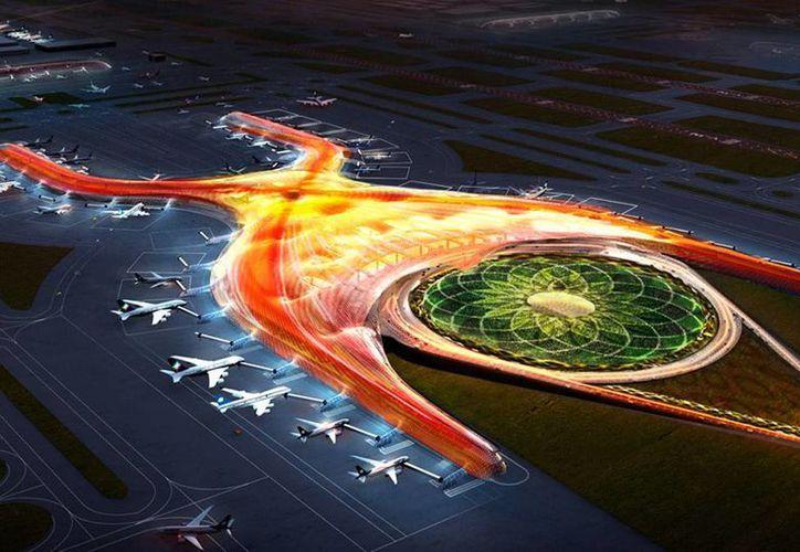 Anuncian que se pondrá a consulta las bases de la convocatoria para la construcción del edificio terminal del Nuevo Aeropuerto Internacional de la Ciudad de México. (Imagen tomada de aeropuerto.gob.mx)