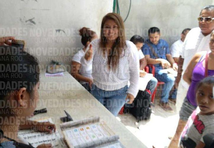 Tulum con gran afluencia de votantes. (SIPSE)