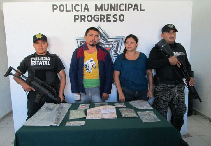 Oswaldo Jardier Molas y Jasibi Góngora Pacheco, detenidos por el robo a la congeladora progreseña. (SIPSE)