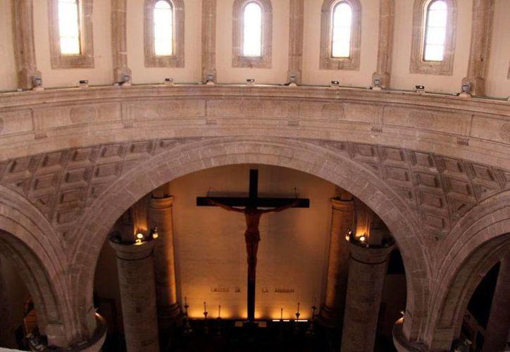 La Catedral de Mérida está abierta para los visitantes: áreas que antes estaban cerradas, hoy pueden visitarse gracias a un recorrido guiados para turistas. (José Acosta/SIPSE)
